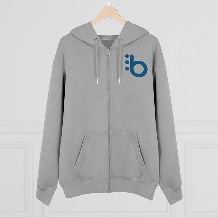 Support Blaqsbi by purchasing our hoodie . The proceeds to this purchase will help us keep the platform running and provide funding for future improvements.Easy to wear, easy to style, and still keeping with your organic aesthetics, we present the iconic mens zip-up hoodie sweatshirt. Laced with cool round drawcords in matching color with their metal tipping, a metal zipper, and eyelets, double-layered hood plus a kangaroo pocket with wide double topstitches, you will definitely enjoy the friendly touch to eco-fashion this zip hoodie brings..: 85% organic combed ringspun cotton, 15% recycled polyester.: Heavy fabric (10.3 oz /yd² (350 g/m²)).: Regular fit.: Sewn in label.: Runs true to size