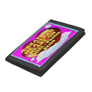 Look professional and stylish with trifold wallets customized with beautiful spiritual photo images from Items Imprinted With Spiritual Images! (IIWSI) A Zazzle store. They feature pockets for credit cards, IDs, a pen holder slot, pocket for notes, business card slots, and more! Cost $17.75 each.