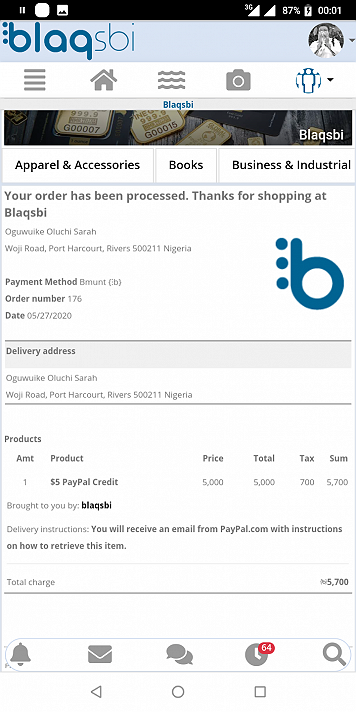 #Blaqsbi is real. I joined barely 3weeks now and Ive already got a blaqard and a payment. Thank You Blaqsbi for making it real!