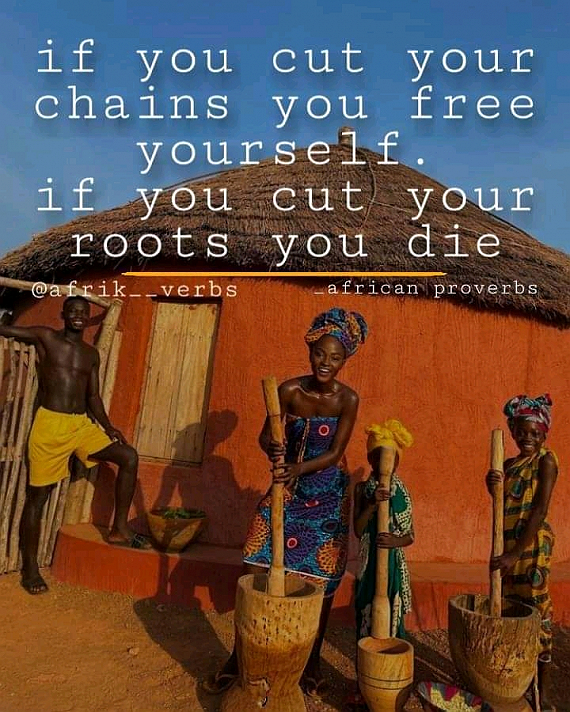 Great African proverb